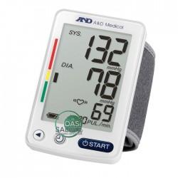 UB-542 AND Misuratore di pressione da polso digitale CERTIFICATO ESH Sfigmomanometro