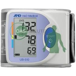 UB-510 AND misuratore di pressione da polso digitale Sfigmomanometro