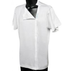 Maglietta in cotone con apertura a stratto post operatoria cod. 667