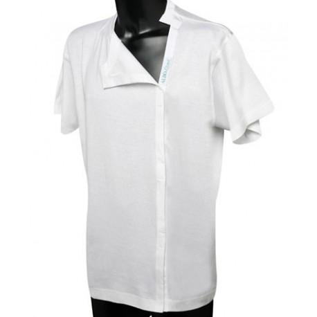 Maglietta in cotone con apertura a strappo post operatoria cod. 667 -