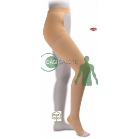 MONOCOLLANT COTTON PUNTA APERTA CCL1 18-21 mmHg GLORIA MED COTONE SULLA PELLE