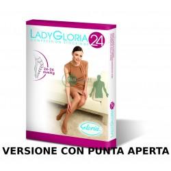 AUTOREGGENTI LADY GLORIA 24 mmHg PUNTA APERTA MAGLIA A RETE
