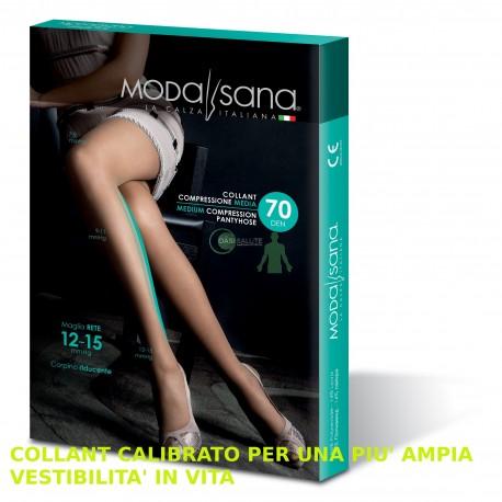 COLLANT 70 Denari CALIBRATO MAGLIA A RETE 12-15 mmHg MODA SANA
