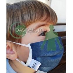 Mascherina protettiva filtrante bambini (6-11 anni) lavabile e riutilizzabile Cizeta Medicali (confezione da 2 pezzi)