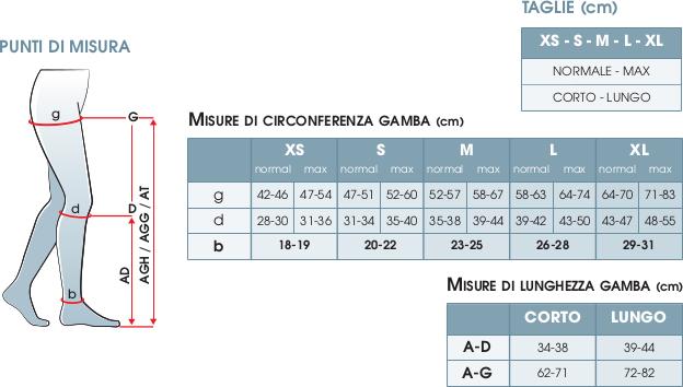 TAGLIE COLLANT MICROFIBRA GLORIA MED