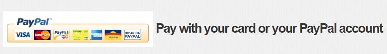 Pagamento con Paypal o Carte di Credito (Gestito da Paypal)