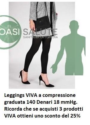 VIVA Leggings a compressione graduata 140 Denari 18 mmHg